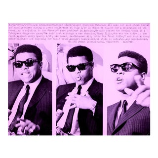 Muhammad Ali Pop Art Warhol Style Collage