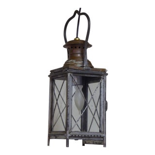 Late 19th Century Antique Tole and Copper Lantern For Sale