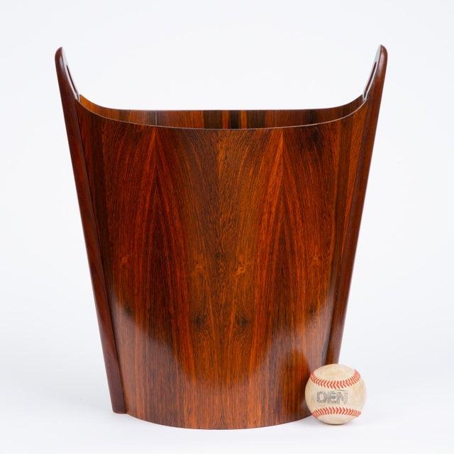 Mid-Century Modern Norwegian Rosewood Wastebasket by Einar Barnes for p.s. Heggen For Sale - Image 3 of 12