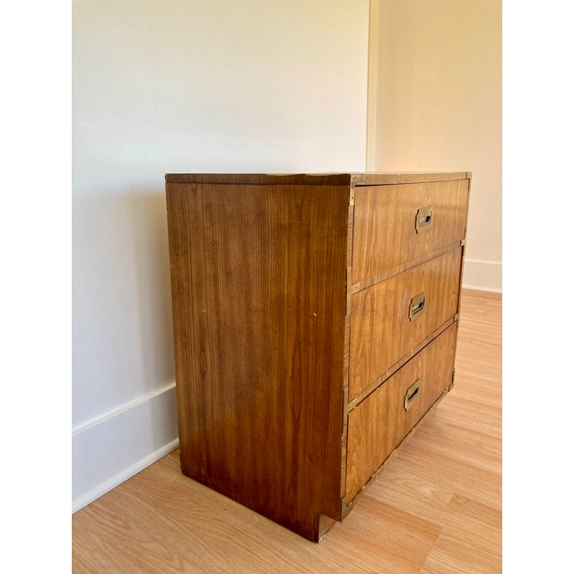 Dixie Late 20th Century Dixie Campaign 3 Drawer Dresser For Sale - Image 4 of 13