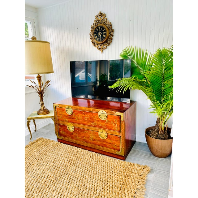 Chinoiserie Drexel Rosewood Chest of 2 Drawers For Sale - Image 12 of 13
