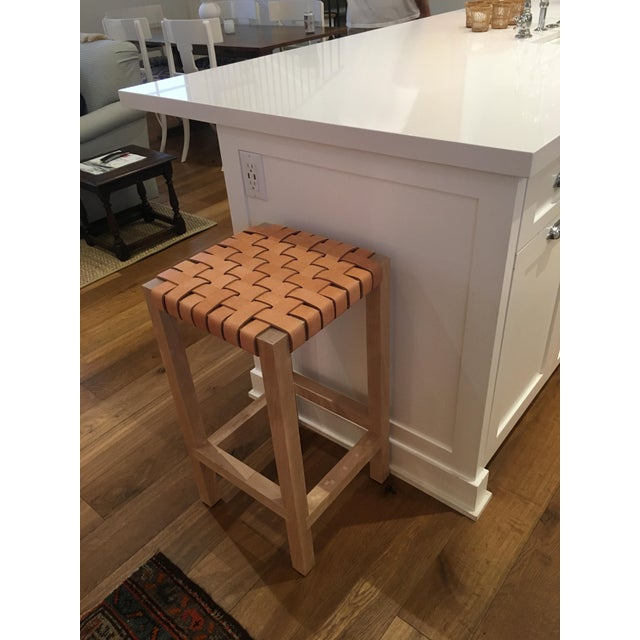 Leather Strap Counter Stool - Image 2 of 4
