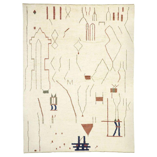 """Contemporary Moroccan Style Rug - 10′3"""" × 13′6″ For Sale"""
