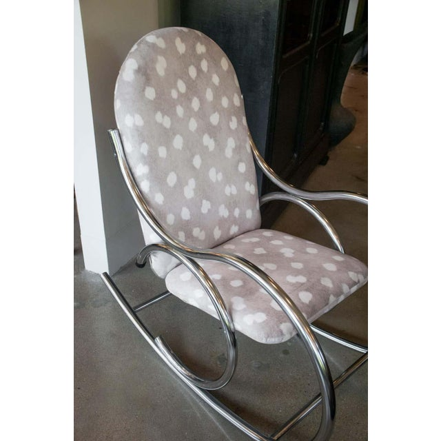 Vintage Chrome Rocking Chair For Sale - Image 4 of 11
