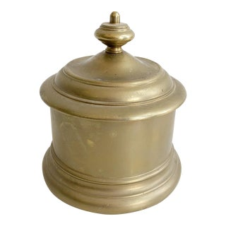 Maitland Smith Solid Brass Round Box With Lid