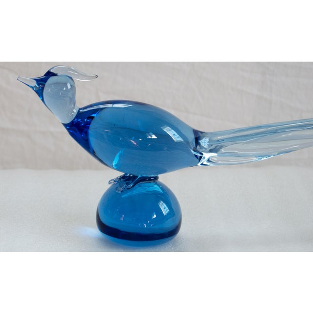 Mid-Century Hand Blown Glass Pheasant - Image 2 of 5