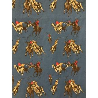 Brunschwig & Fils Cotton Screen Print Windsor Park Michele Geslin Paris Polo Fabric For Sale