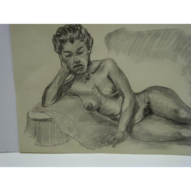 This is an Original Drawing / Sketch on Paper that is titled Laying Sideways Nude by Tom Sturges Jr. and is dated February...