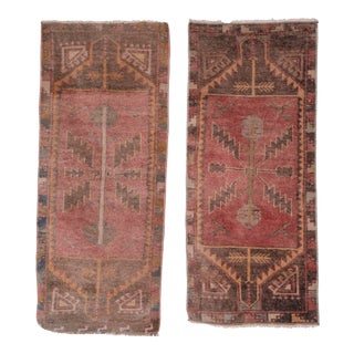 "Distressed Turkish Small Rug - a Pair 1'7"" X 3'8"" For Sale"