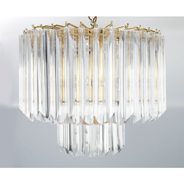 Round Brass & Lucite 11-Light Chandelier - Image 2 of 11