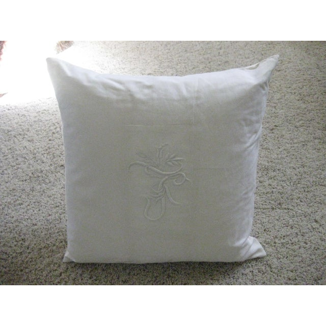 Ralph Lauren Home White Pillow For Sale In San Diego - Image 6 of 6