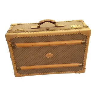 1970s Gucci Logo Hard Sided Suitcase or Travel Trunk For Sale