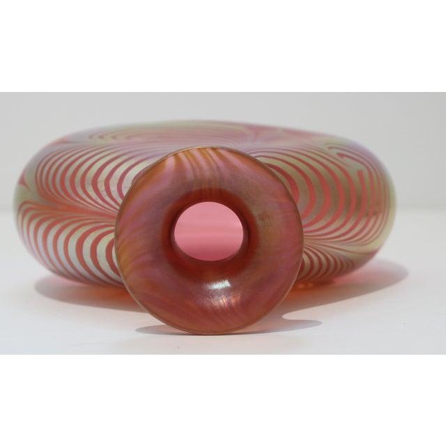 Vintage Steven Correia Favrille Art Glass Vase For Sale - Image 9 of 13