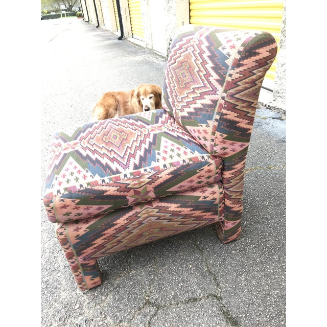 Mid Century Century Furniture Parsons Style Slipper Chairs- A Pair For Sale - Image 10 of 13
