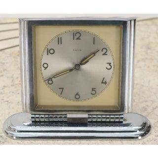 Folding Swivel Base Art Deco Polished Chrome Travel Table Desk Clock Kienzle Preview