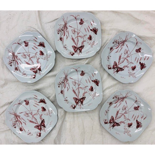 Stunning Set of Six (6) Vintage Mid Century Era Spode Plates, Designed by the Iconic Cecil Beaton on Lowesoft. Special and...