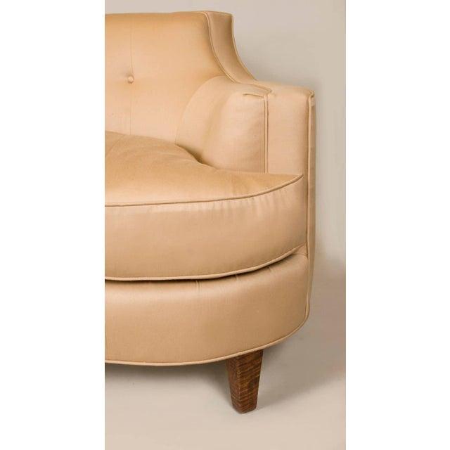 Sister Parish Wool Fabric Upholstered Mid-Century Sofa - Image 6 of 6