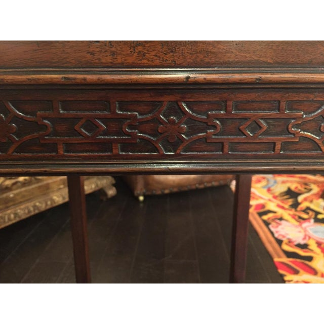 1820s Carved Mahogany Chippendale Style Side Table For Sale - Image 4 of 8