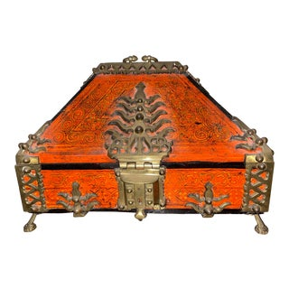 Early 20th Century Dowry Chest/ Malabar Box From Kerala, India For Sale