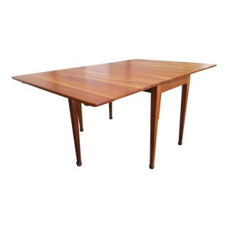 Vintage Mid Century Kindel Cherry Gate-Leg Drop-Leaf Dining Table For Sale