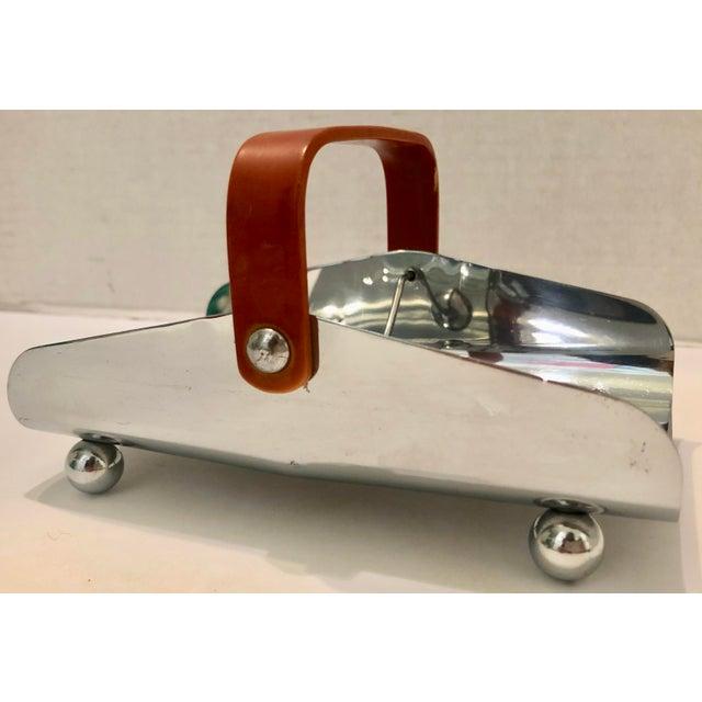 Silver Art Deco Bakelite & Chrome Napkin Holder For Sale - Image 8 of 9
