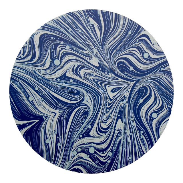 Marble Placemat in Navy For Sale