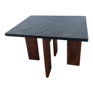 Mid Century Modern Adrian Pearsall Walnut and Slate End Table Craft Associates For Sale