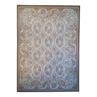 "Pasargad Aubusson Hand-Woven Wool Rug- 7' 9"" X 10' 1"" For Sale"