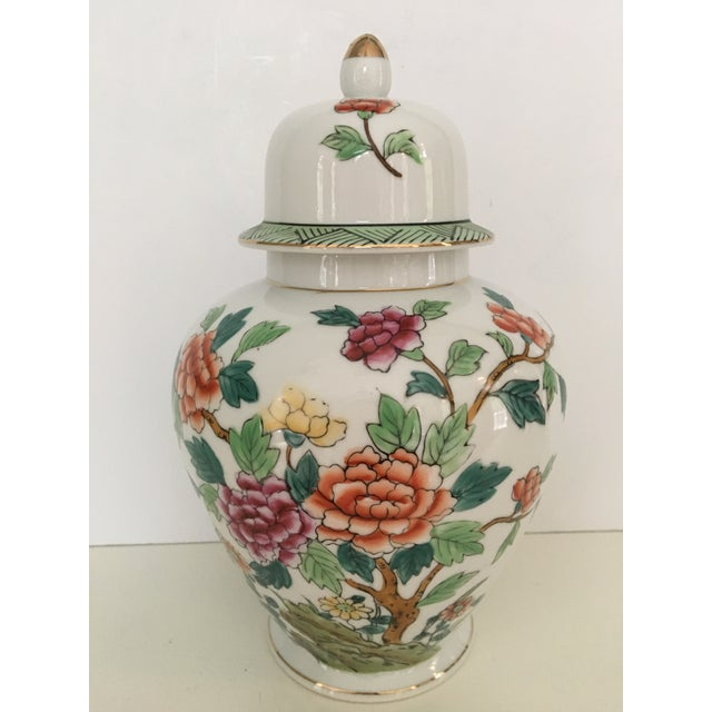 Mid-Century Norleans Chinoiserie Lidded Urn - Made in Japan For Sale - Image 9 of 10