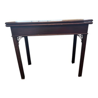 Antique George III Mahogany Flip Top Gaming Table For Sale