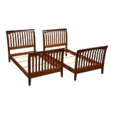 Image of Ethan Allen American Impressions Cherry Twin Beds- a Pair For Sale
