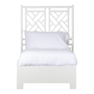 Chippendale Bed Twin Extra Long - White For Sale