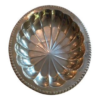 Mid-Century Solid Brass Oblong Starburst Bowl For Sale