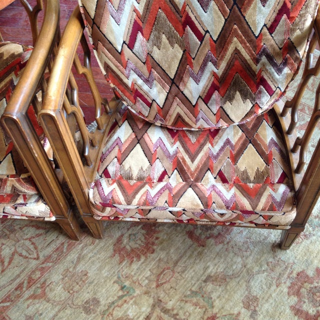 Vintage Barrel Back Club Chairs - A Pair - Image 10 of 11
