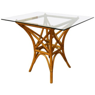 McGuire Style Rattan Dining Table