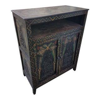 Moroccan Carved Cedar Cabinet