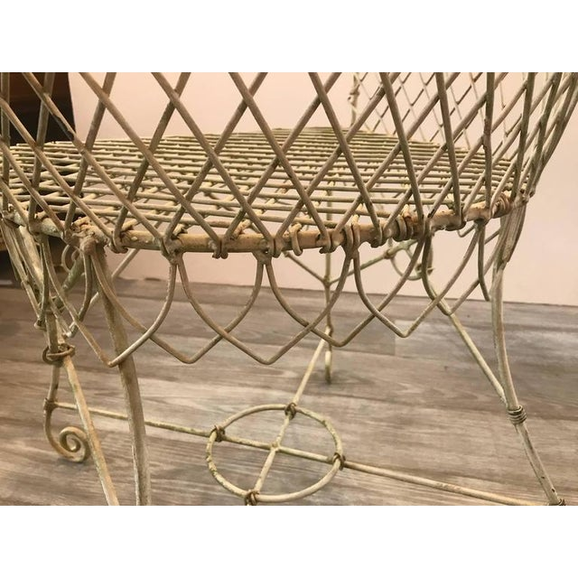 French Painted Wire Tub Back Chairs - a Pair - Image 9 of 10