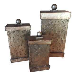 Mediterranean Style Uttermost Decorative Boxes - Set of 3 For Sale