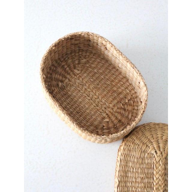 Vintage Sweetgrass Basket For Sale - Image 6 of 9
