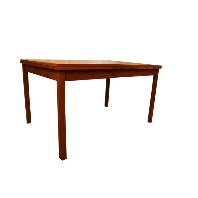 Mid-Century Modern Danish Modern Teak Extendable Dining Table Vejle Stole Møbelfabrik For Sale - Image 3 of 11
