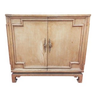 Vintage Hollywood Regency, Asian Style Two Door Cabinet
