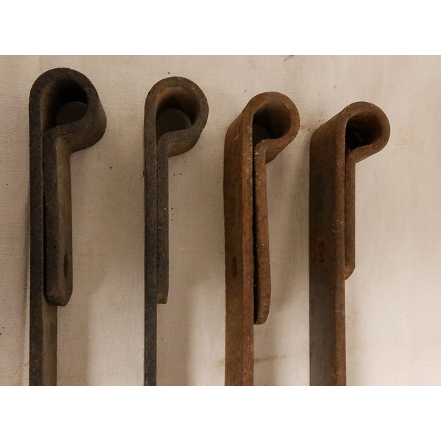 Amish Barn Iron Door Hinges - Set of 4, Hand Wrought For Sale - Image 4 of 4