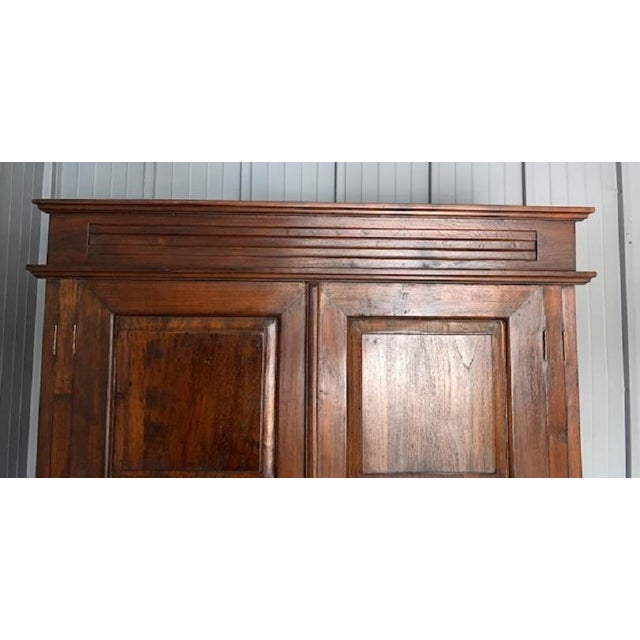 Large Teak Armoire For Sale - Image 10 of 13