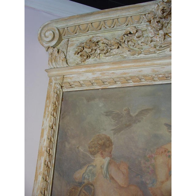 This monumental trumeau mirror is simply fantastic! It is right at 11 feet tall and will definitely be the focal point of...