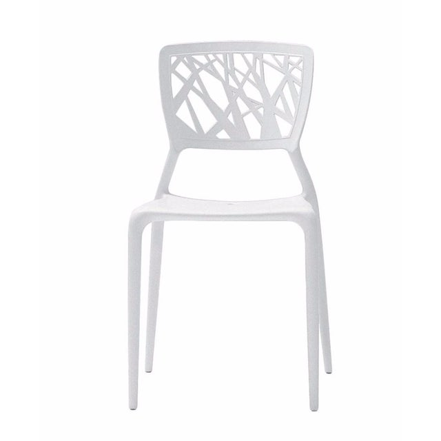 White Modern Dining Chairs - Set of 4 - Image 1 of 2