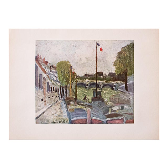 1950s Maurice Utrillo, Pont Neuf, Paris First Edition Lithograph For Sale