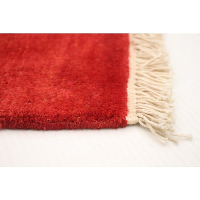 2010s Hand-Knotted Red Rug For Sale - Image 5 of 9