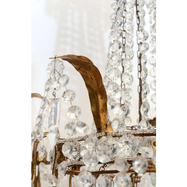 Empire Form Crystal Chandelier For Sale In West Palm - Image 6 of 10