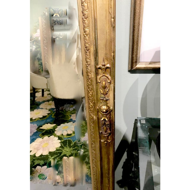 Late 19th Century Large 19th Century Antique French Gilt Putti Mirror For Sale - Image 5 of 9