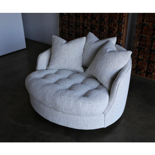 Mid 20th Century Milo Baughman Large Swivel Lounge Chair for Thayer Coggin, Circa 1970 For Sale - Image 5 of 13